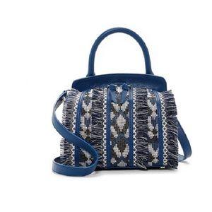 Sam Edelman Bobbi Navy Fringe Bag